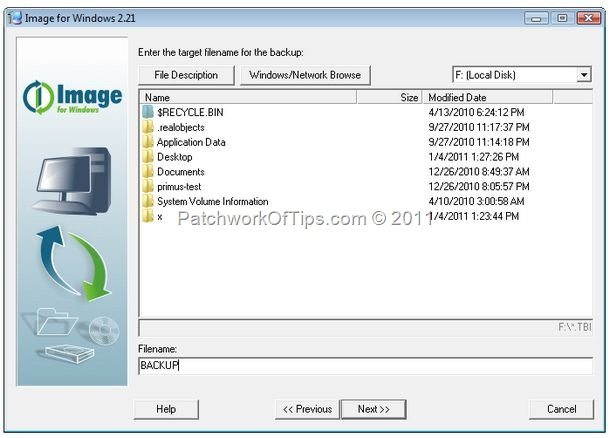 How To Backup A Computer With Image For Windows
