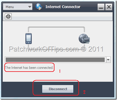 How to Disconnect From The internet using Samsung PC Studio