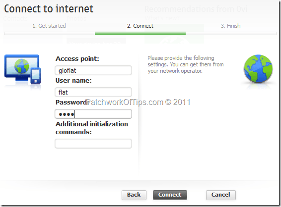 Manually Input Your Internet Connection Settings For Nokia Ovi Suite