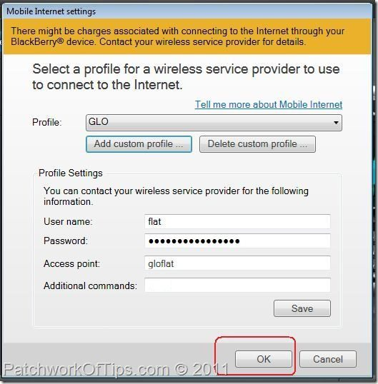 Save Your Network Provider's Internet Settings