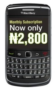 BlackBerry Internet Service Codes for Nigeria