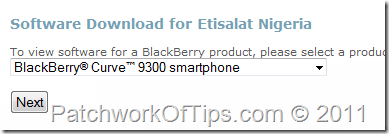 Select Your BlackBerry Model