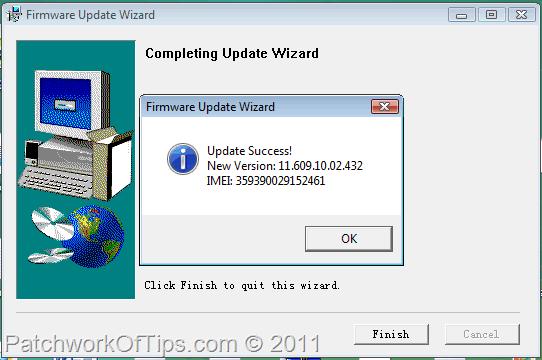 Huawe Firmware Update Complete
