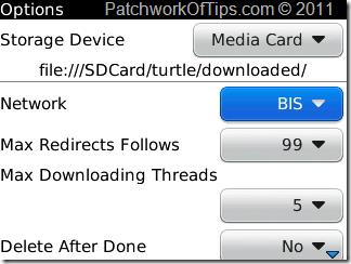 Net Turtle BlackBerry Internet Downloader