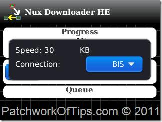 Nux Downloader BlackBerry Download Manager