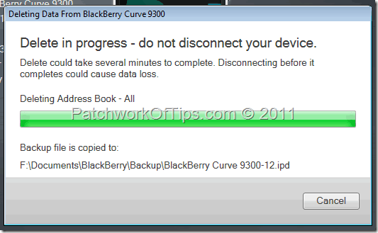 Deleting The Entire BlackBerry Address Book