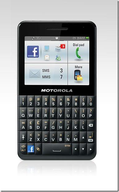 Motorola Motokey Facebook Phone