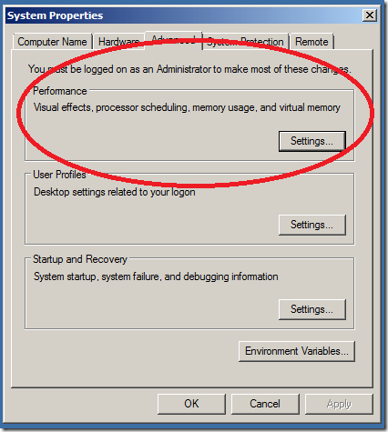 Deactivate Visual Effects On Windows 7 Starter Netbook