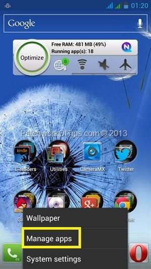 Manage Android Apps