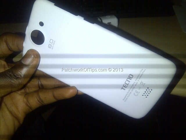 Tecno Phantom A White Back Cover