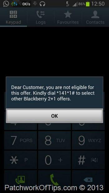 Airtel Unlimited BlackBerry Plan