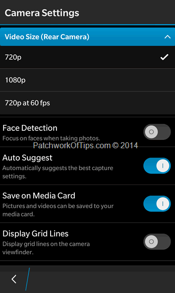 BlackBerry 10 Camera Settings (2)