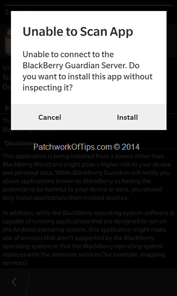 BlackBerry Guardian Scanner