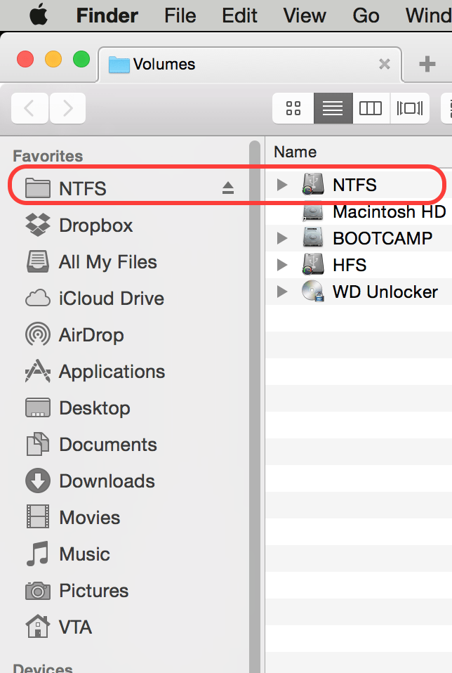 Access NTFS Write Enabled Drive On Mac OS X
