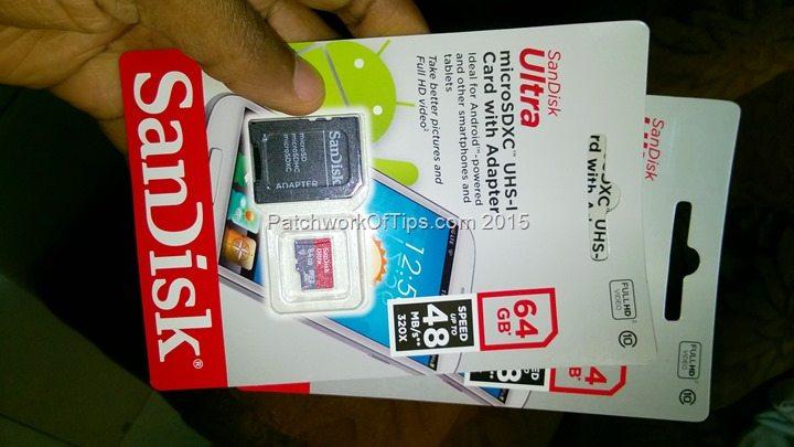SanDisk Ultra MicroSD card