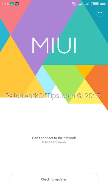 Install MIUI 7 On Xiaomi Redmi 2 HM2014813
