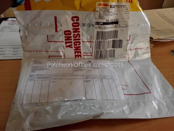 DHL For Consignee Only Package