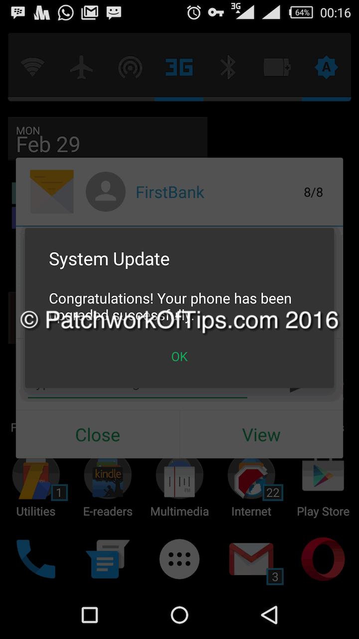 Infinix Zero 3 February 2016 Update Done