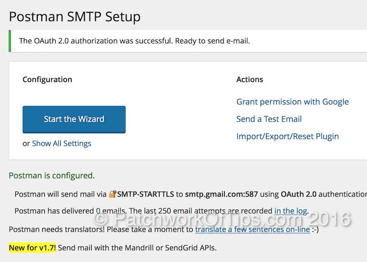 Postman SMTP Setup Final