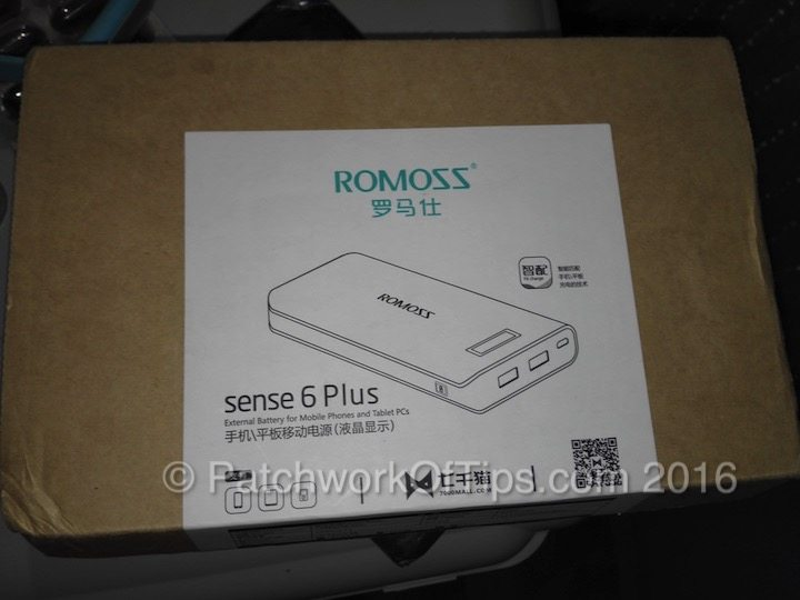 Romoss Sense 6 Plus Package 1