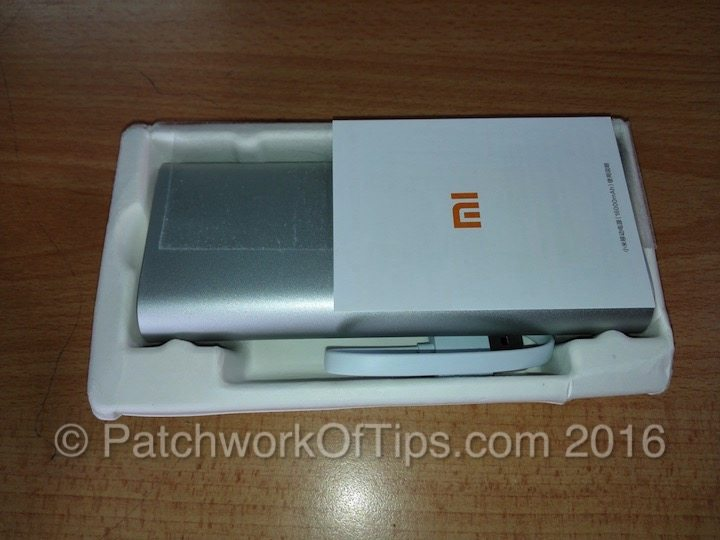 Xiaomi 16000mAh Powerbank Retail Package Open