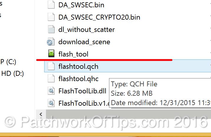 Run Flash Tool