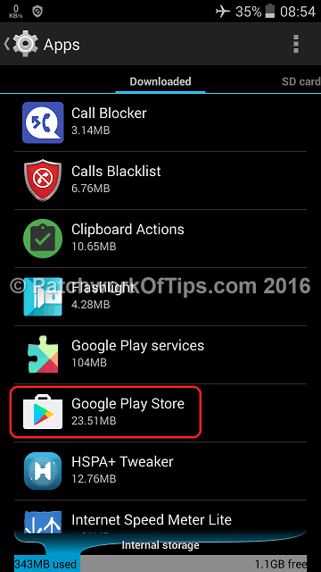 Clear Google Play Store Cache & Data 1
