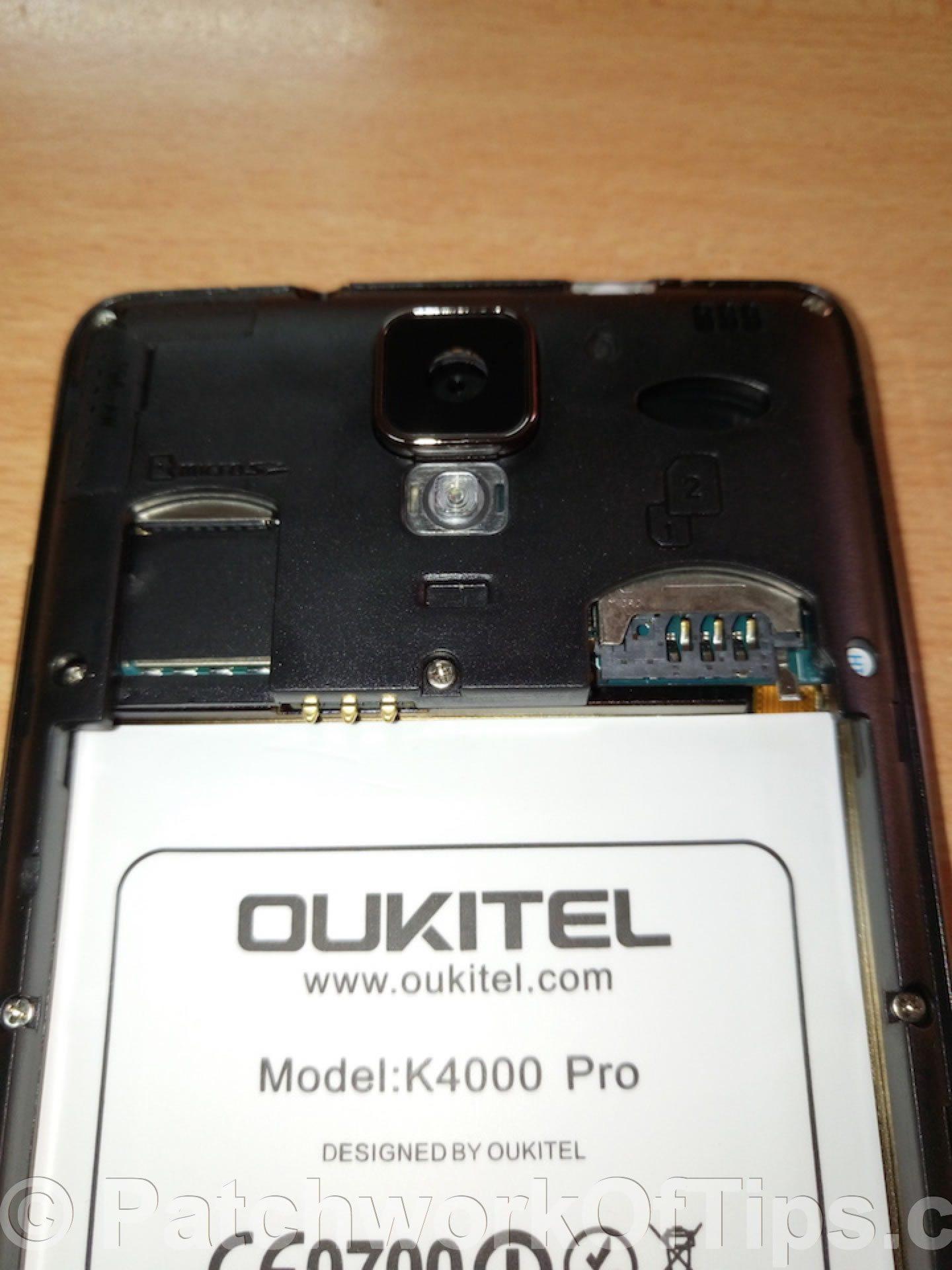 Oukitel K4000 Pro Camera, SIM & microSD card slot