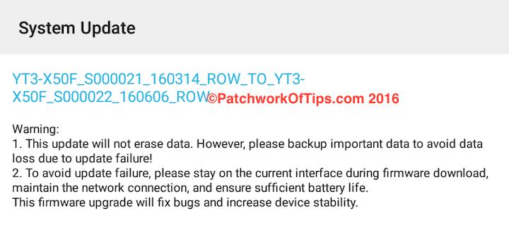 "Lenovo Yoga Tab 3 10"" OTA Update"