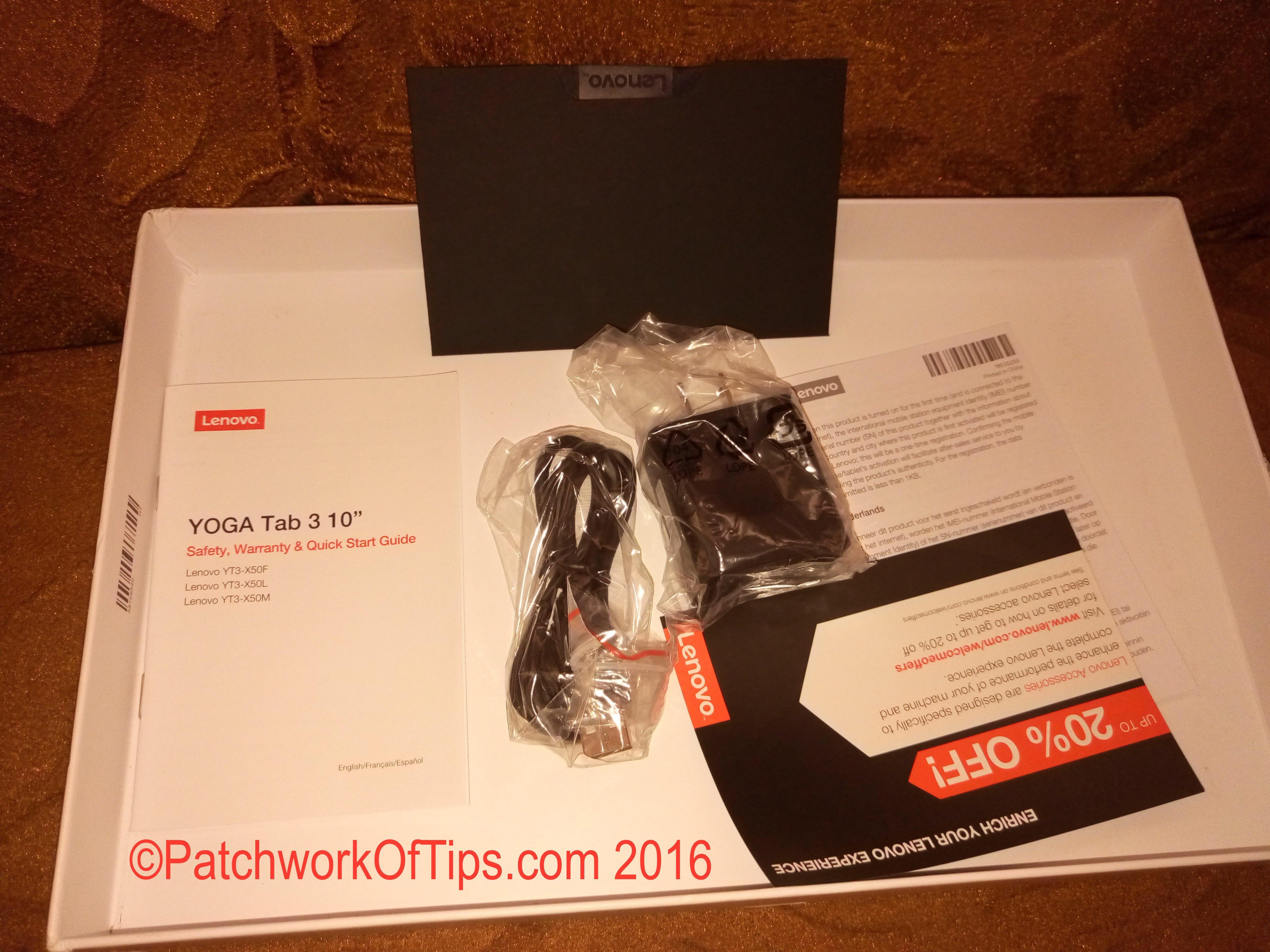 Lenovo Yoga Tab 3 10 Unboxed 3