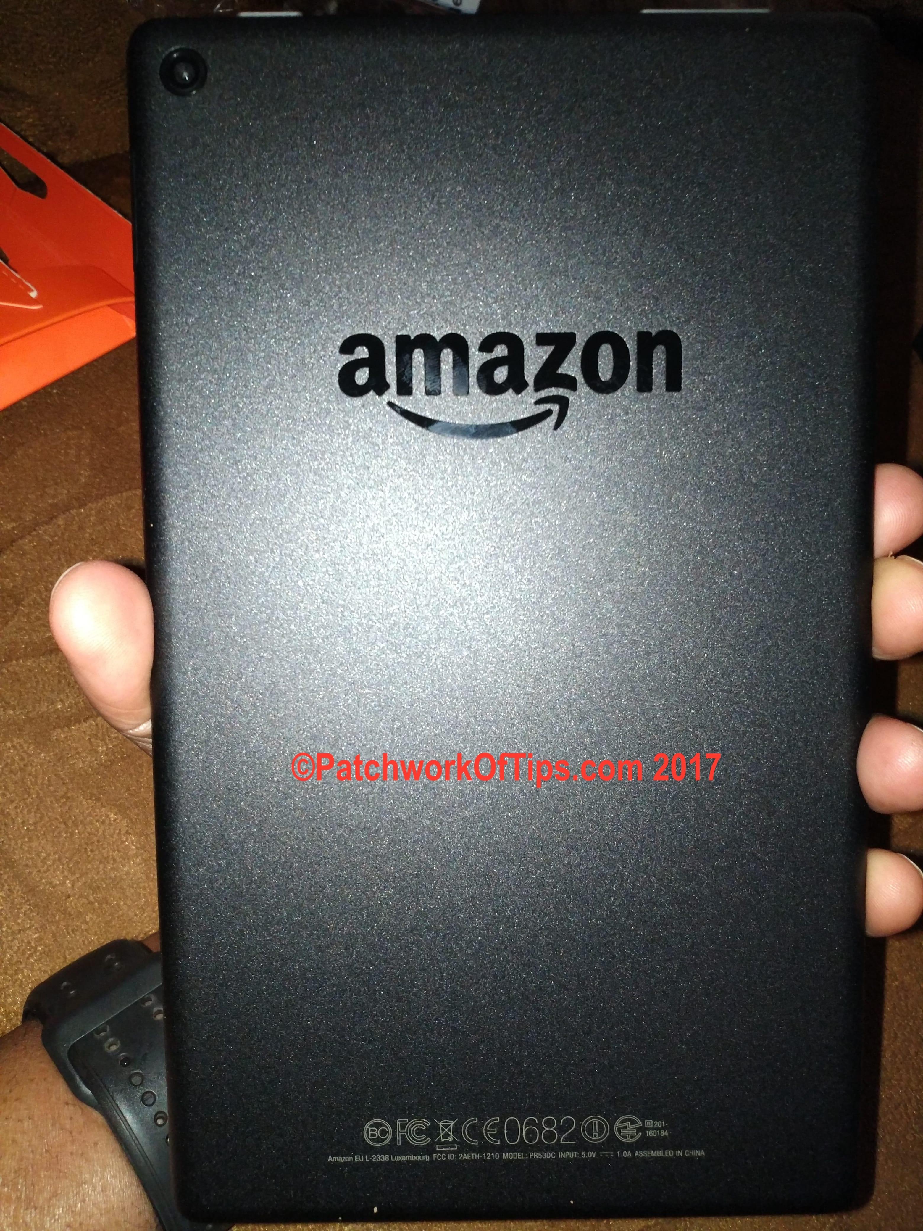 Amazon Fire HD 8 (2016) Camera Back