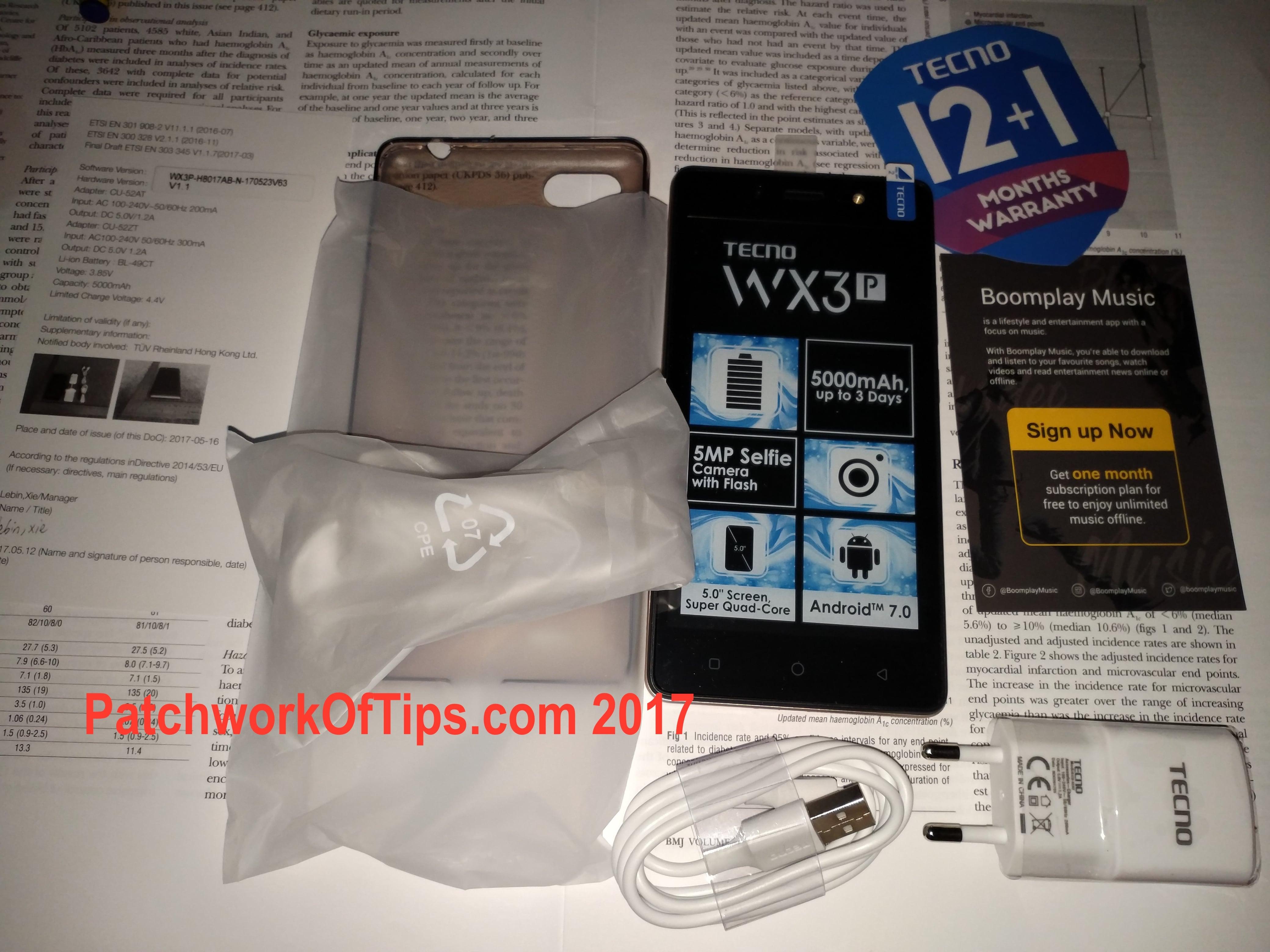 Tecno WX3P Unboxing 14