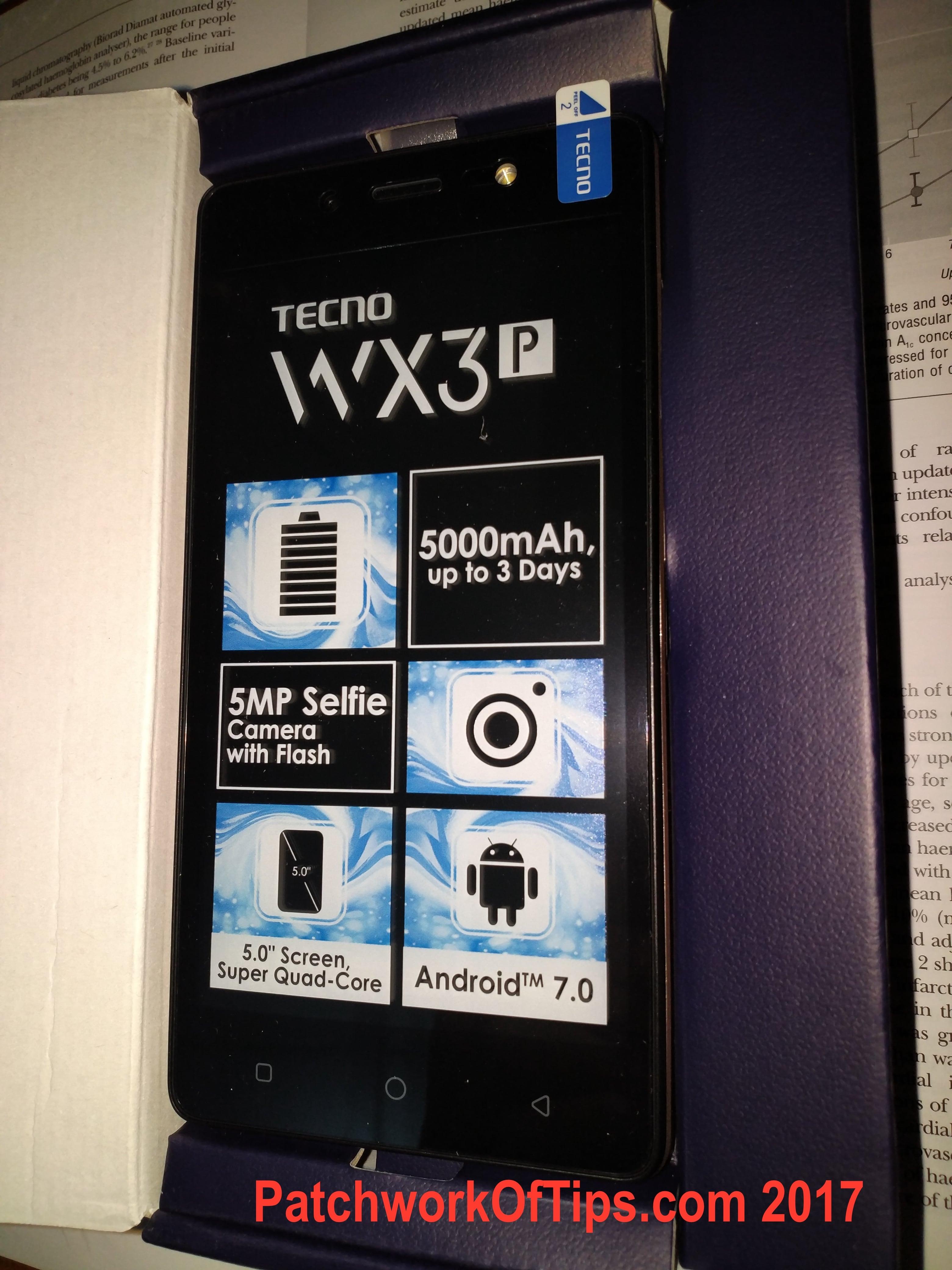 Tecno WX3P Unboxing 15
