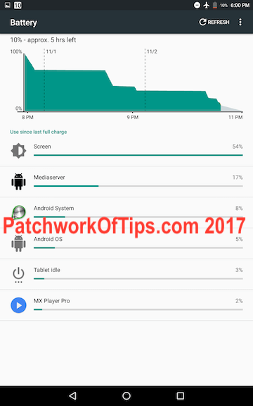 Lenovo Tab3 8 Plus Battery Life 1