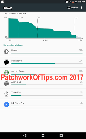 Lenovo Tab3 8 Plus Battery Life 3